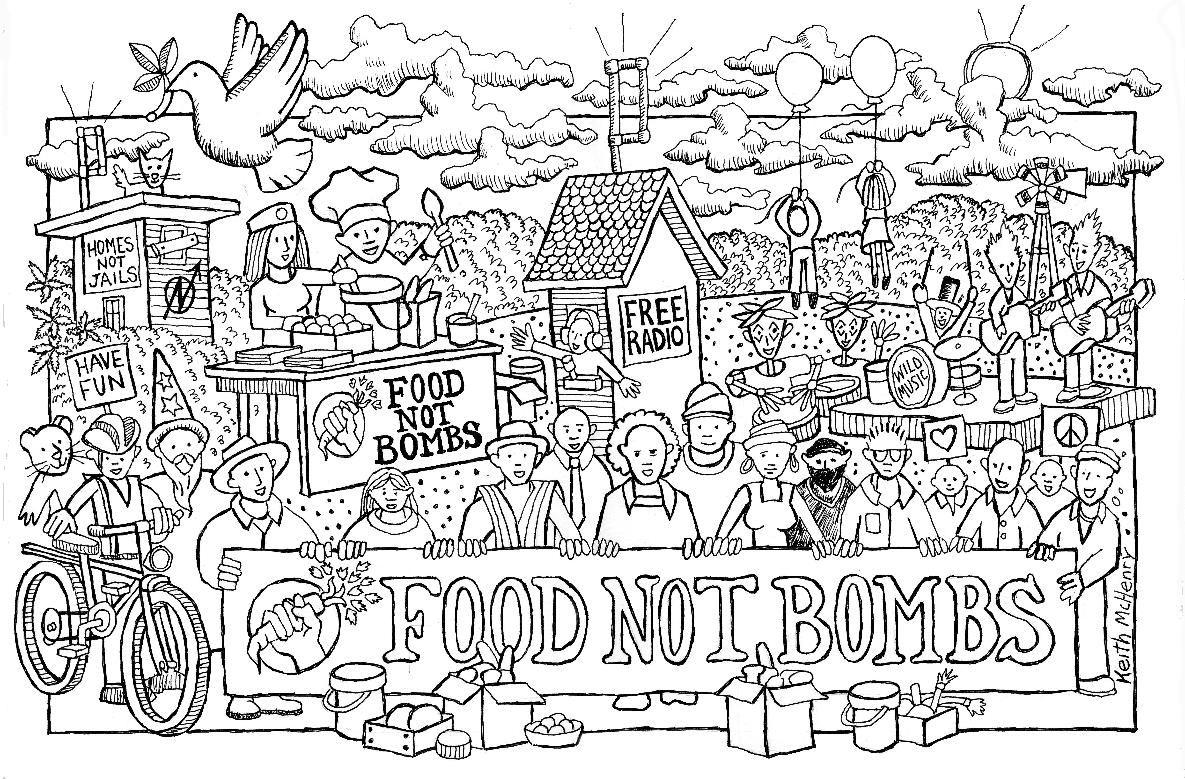 The coloring book tour opener - Color Food Not Bombs Logo 11 Black And White Food Not Bombs Logo 12 Email Us For Irs Form W 9